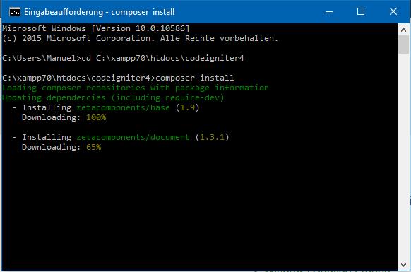 CodeIgniter 4: Composer Setup